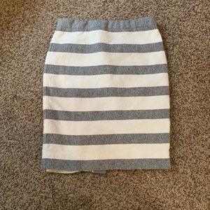 J Crew striped pencil skirt